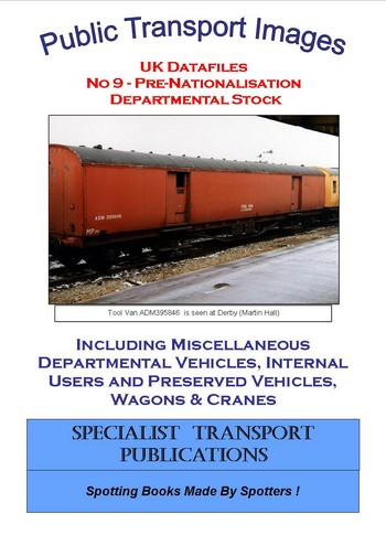 Cover of No 9 - Pre-nationalisation Departmental Stock