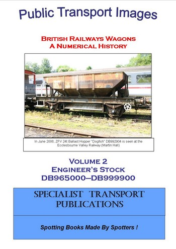 Cover of British Railways Wagons - a Numerical History  - Engineer's Stock DB965000 - DB999900