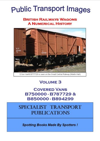 Cover of British Railways Wagons - a Numerical History  - Covered Vans