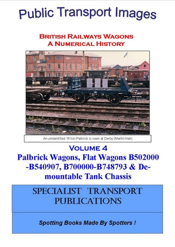 Cover of British Railways Wagons - a Numerical History  - Flat Wagons, Palbricks and Detachable Tanks