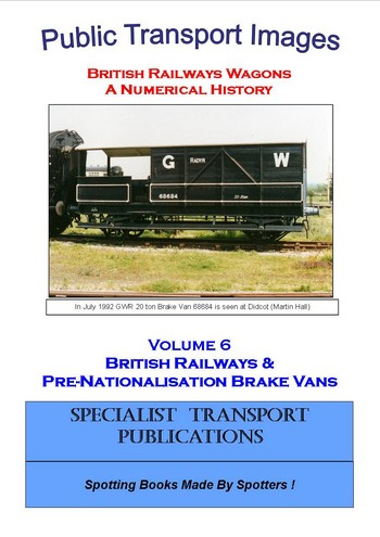 Cover of British Railways Wagons - a Numerical History  - Brake Vans