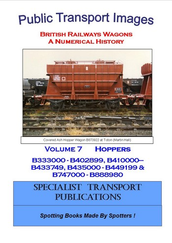 Cover of British Railways Wagons - a Numerical History  - Hopper Wagons