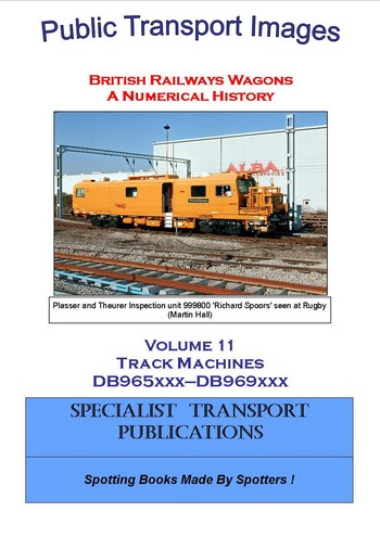 Cover of British Railways Wagons - a Numerical History - Track Machines