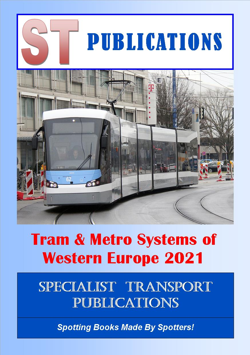 Cover of Trams and Metros of Western Europe 2018