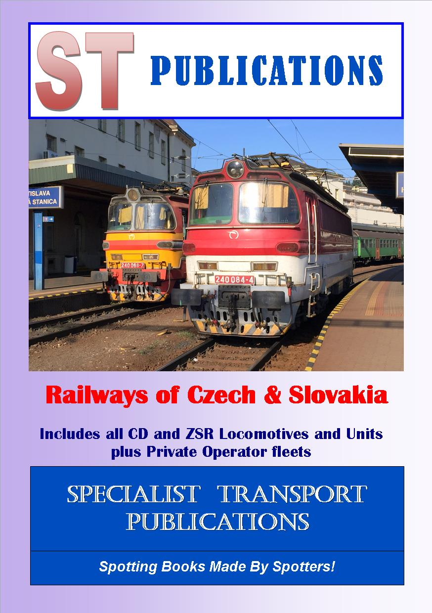 Cover of European Rail datafile - Czech Republic & Slovakia 2018 (without coaches)