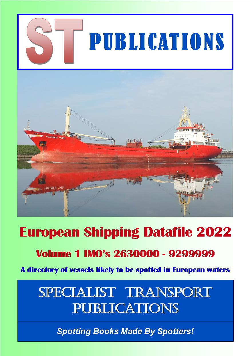 Cover of European Shipping Fleet 2019 Volume 1 (IMO`s 2630000 - 9259999)