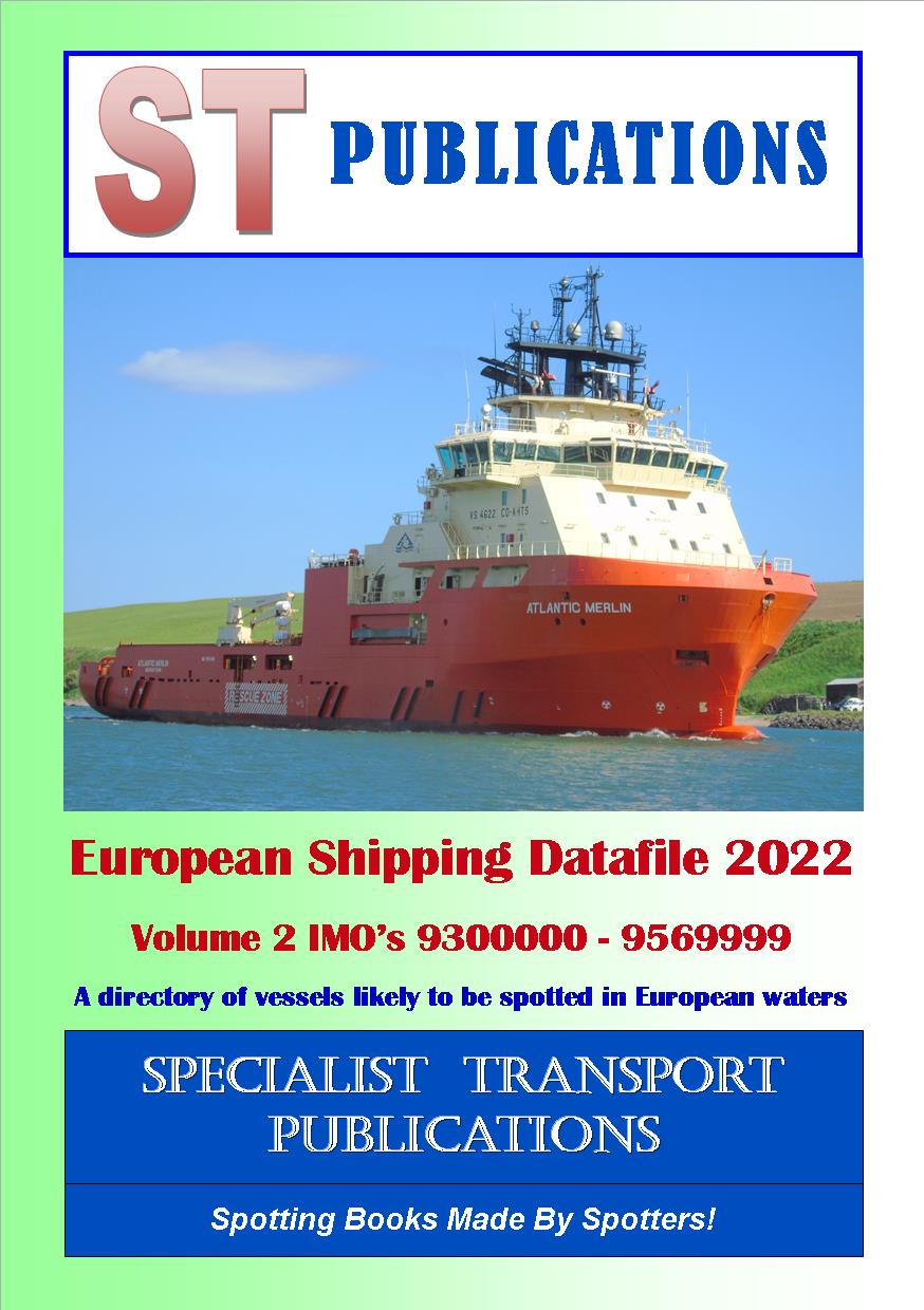 Cover of European Shipping Fleet 2019 -  Volume 2 (IMO's 9260000 - 9499999)