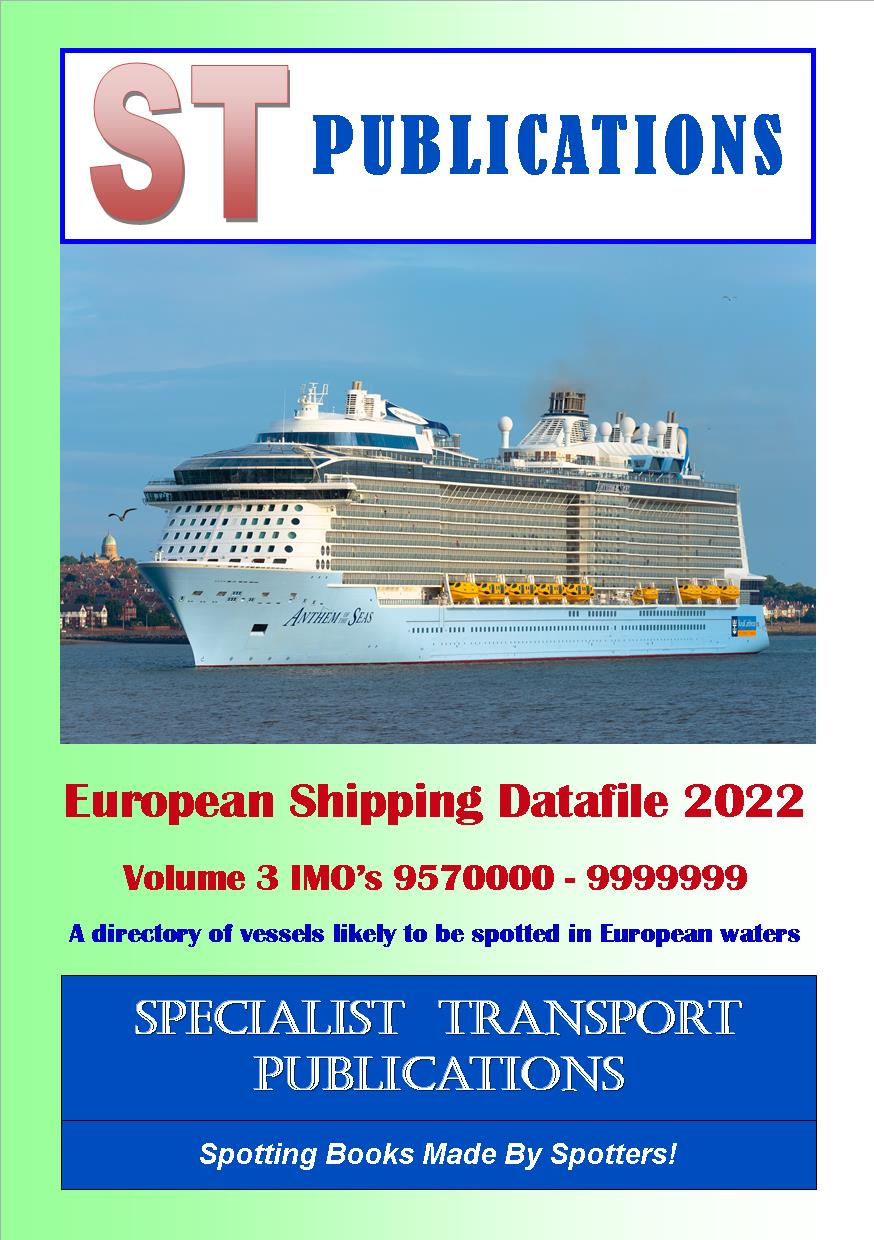 Cover of European Shipping Fleet 2019 Volume 3 (IMO's 9500000 - 9869999)