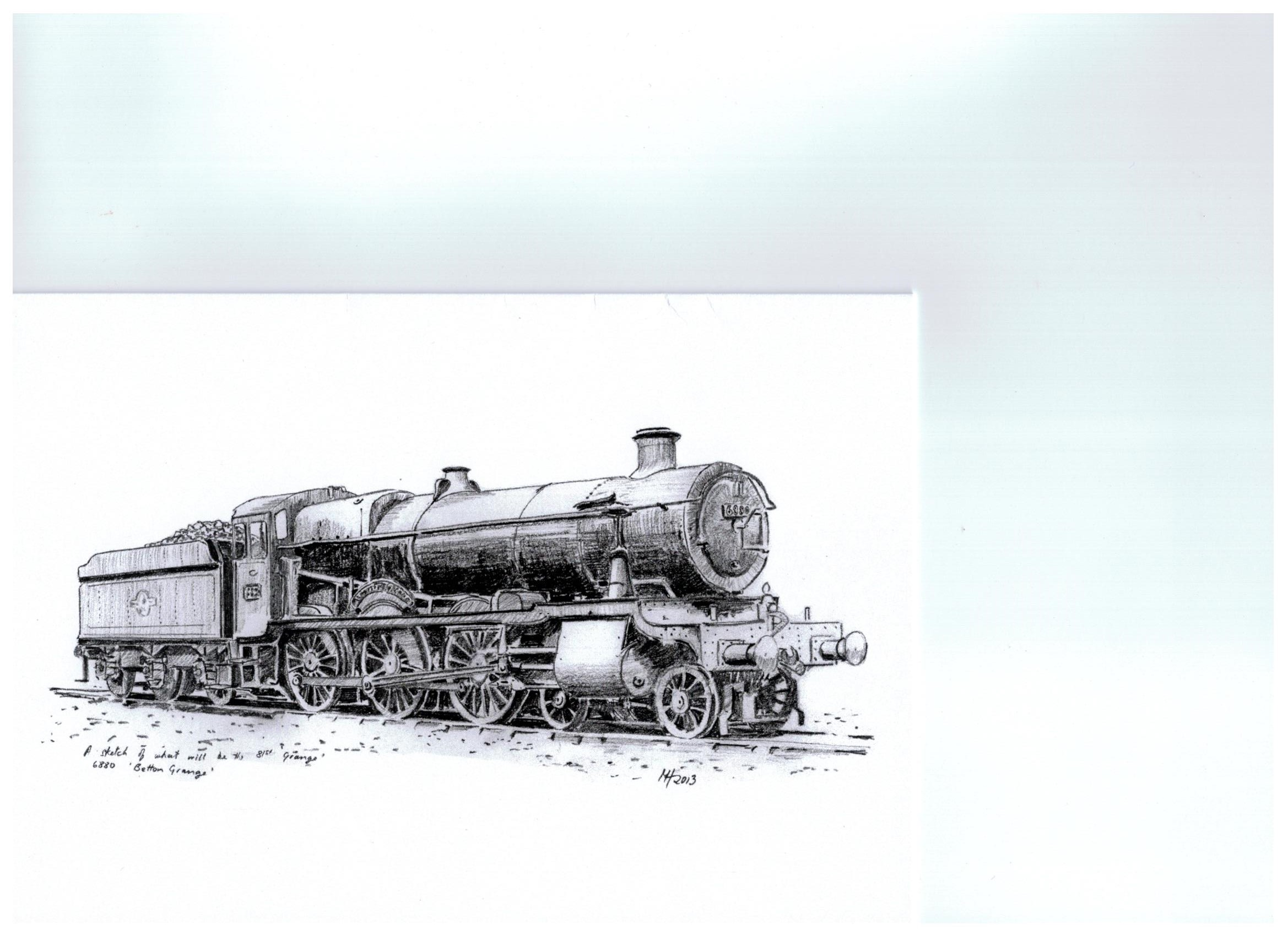 Cover of Steam Loco Greetings card - 6880 Betton Grange