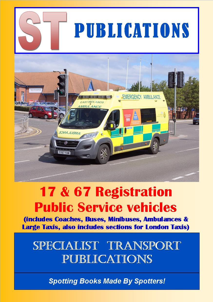 Cover of 17 & 67 Registration Public Service Vehicles